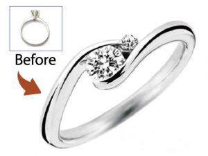 使っていないダイヤモンドリングを今風にリフォーム